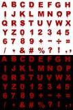 Blood alphabet Royalty Free Stock Photography