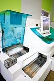 Blood analysis machine detail royalty free stock photos