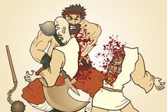 Blood attack barbariann Royalty Free Stock Photos