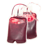 Blood bag Stock Image