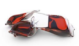 Blood bag.3d render Royalty Free Stock Image