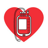 Blood bag icon Stock Images