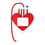 Blood bag icon Royalty Free Stock Images