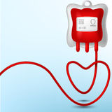 Blood Bag illustration Stock Photos