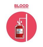 blood bag transfusion symbol Royalty Free Stock Photography