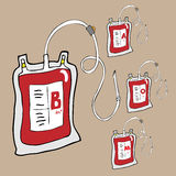 Blood bags for donation cartoon Stock Photo