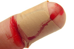 Blood and Bandage Royalty Free Stock Images