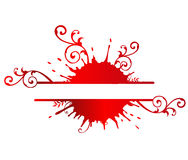Blood Banner. Abstrac design work using different colours Royalty Free Stock Images