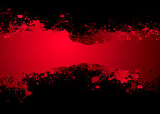 Blood banner dark. Bright blood red ink banner with room to add your own text Stock Image