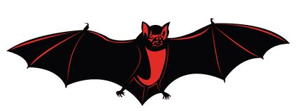Blood bat flying Royalty Free Stock Images
