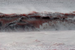 Blood bath wave Stock Images