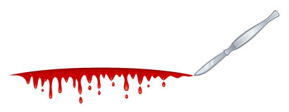 Blood blade. On a white background royalty free illustration