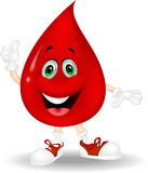 Blood cartoon giving a thumb up. Illustration of Blood cartoon giving a thumb up stock illustration