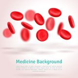 Blood cells. Medical background. 3D shape Royalty Free Stock Image