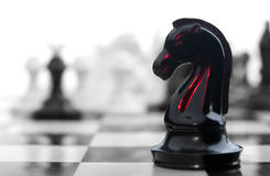 Blood chess knight Stock Photo