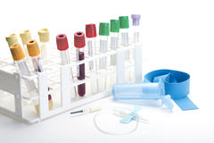 Blood Collection Tubes Royalty Free Stock Photography