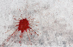 Blood on concrete Royalty Free Stock Photo