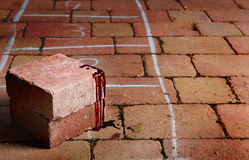 Blood covered bricks Royalty Free Stock Photography