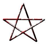 Blood covered pentagram Stock Photography