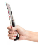 Blood Covered Razor Royalty Free Stock Photo