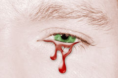 Blood Crying eye Stock Photo