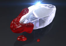 Blood diamond Stock Image