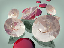 Blood diamonds Stock Photos