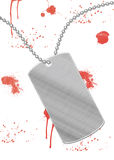 Blood dog tag Stock Image