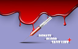 Blood donate background. EPS 10 Vector Royalty Free Stock Images