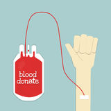 Blood donate and hand Stock Photography