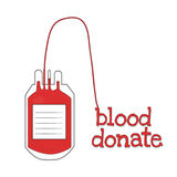 Blood donate with red word Stock Images