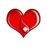 Blood donation. Illustration blood donation on a white background Stock Photo