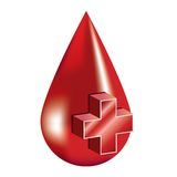 Blood donation. First aid illustration isolated over white background Royalty Free Stock Photos