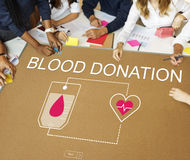 Blood Donation Aid Heart Care Concept Stock Photography