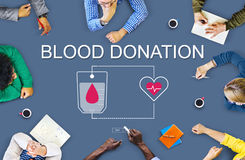 Blood Donation Aid Heart Care Concept Stock Photo