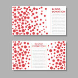 Blood donation banners Stock Photography