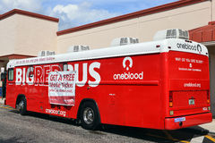 Blood Donation bus in the USA Royalty Free Stock Photo