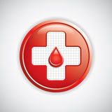 Blood donation button Royalty Free Stock Photography