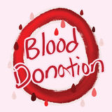Blood Donation calligraphy Royalty Free Stock Images
