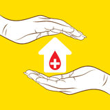 Blood donation concept design Stock Images
