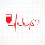 Blood donation concept with heartbeat Stock Photo