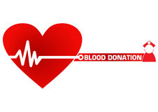 Blood Donation Concept Illustration Royalty Free Stock Photos