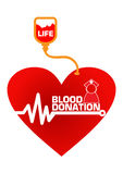 Blood Donation Concept Illustration Royalty Free Stock Photography