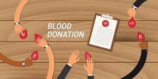 Blood donation concept people give their to other Stock Photo