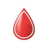 blood donation drop shiny Royalty Free Stock Photos