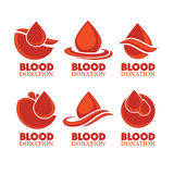 Blood donation. Emblem, logo, symbol for blood donor day Royalty Free Stock Photo