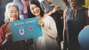 Blood Donation Give Life Transfusion Sangre Concept.  Royalty Free Stock Image