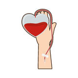 Blood donation hand bag shape heart. Illustration eps 10 Stock Photos