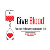 Blood donation icons Stock Images
