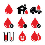 Blood donation  icons set Stock Images